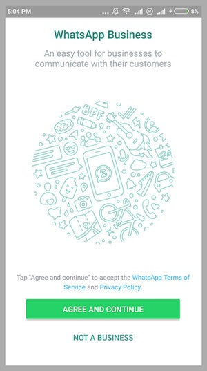 WhatsApp Business - Agree to Terms