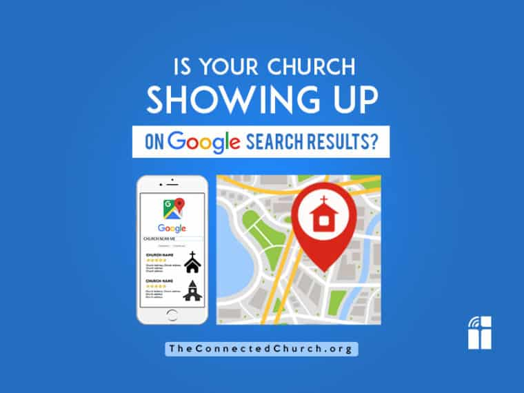 Is your church showing up on google search results? Using Google My Business.